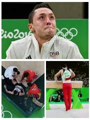 德国体操托巴哭着完成比赛