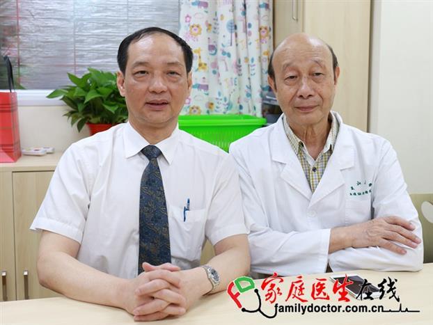中山大学孙逸仙纪念医院儿科主任方建培教授、黄绍良教授(右一)接受媒体采访。